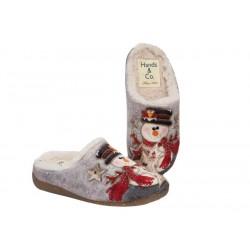 """Zapatillas de Mujer de Casa Invierno """"Muñeco Nieve"""" . Hand&co"""