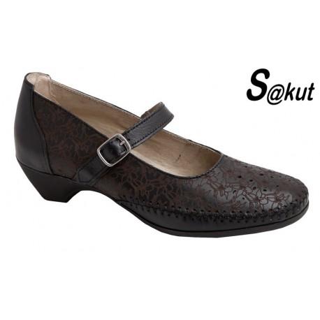 Zapato Cómodo Mujer Piel Negro.S@kut.