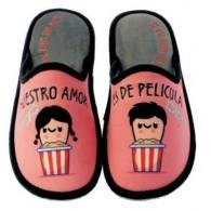 """Zapatillas Casa Invierno de Mujer """"Nuestro Amor Es de Película"""". Se Me Ríen Los Pies"""