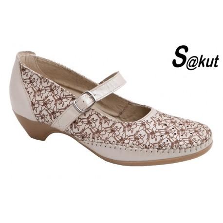Zapato Cómodo Mujer Piel Beig.S@kut.