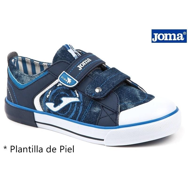 Lona Niño Velcro Azul-Jeans.Joma