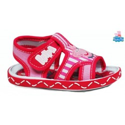 Sandalia Niña Velcro Fuxia.Peppa Pig
