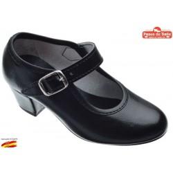 Zapato Tacón Pasos de Baile de Flamenca .