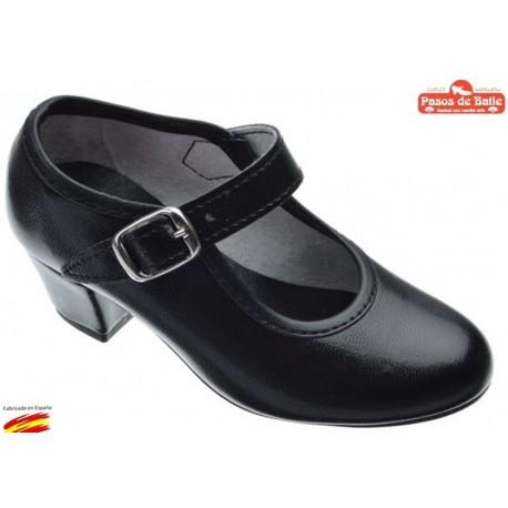 Zapato de Flamenca Negro.Pasos de Baile