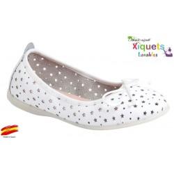 Bailarina Niña Piel Lavable Blanco.Xiquets