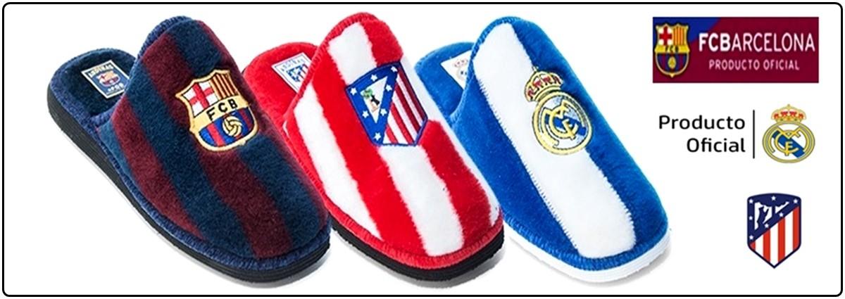 Zapatillas-casa-equipos-futbol-realmadrid-barcelona-atmadrid